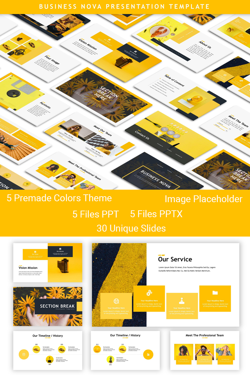 """Business Nova - Presentation"" - PowerPoint шаблон №83909 - скріншот"