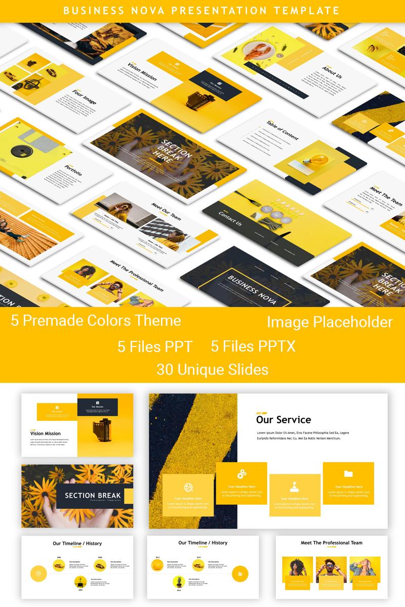 Business Nova - Presentation PowerPointmall #83909 - skärmbild