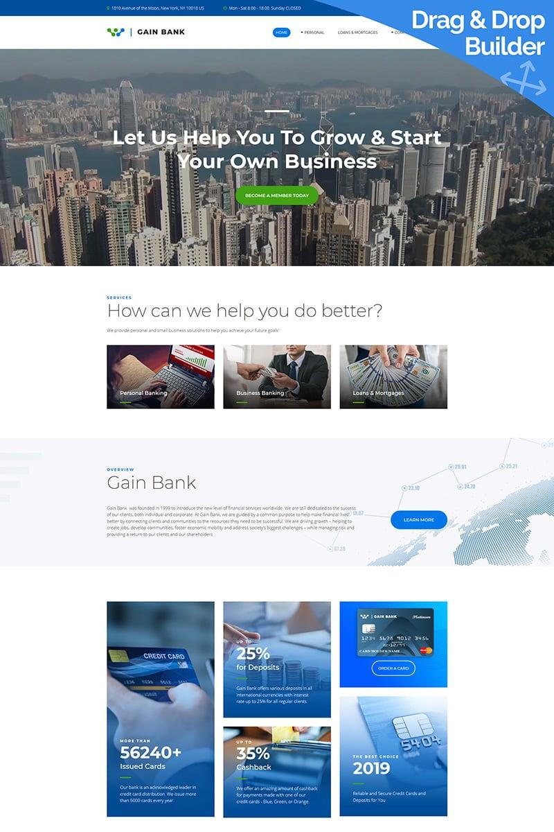 Gain - Best Bank Templates Moto CMS 3 №83945