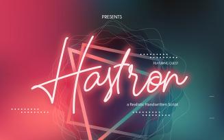 Hastron | Neon Monoline Cursive Font