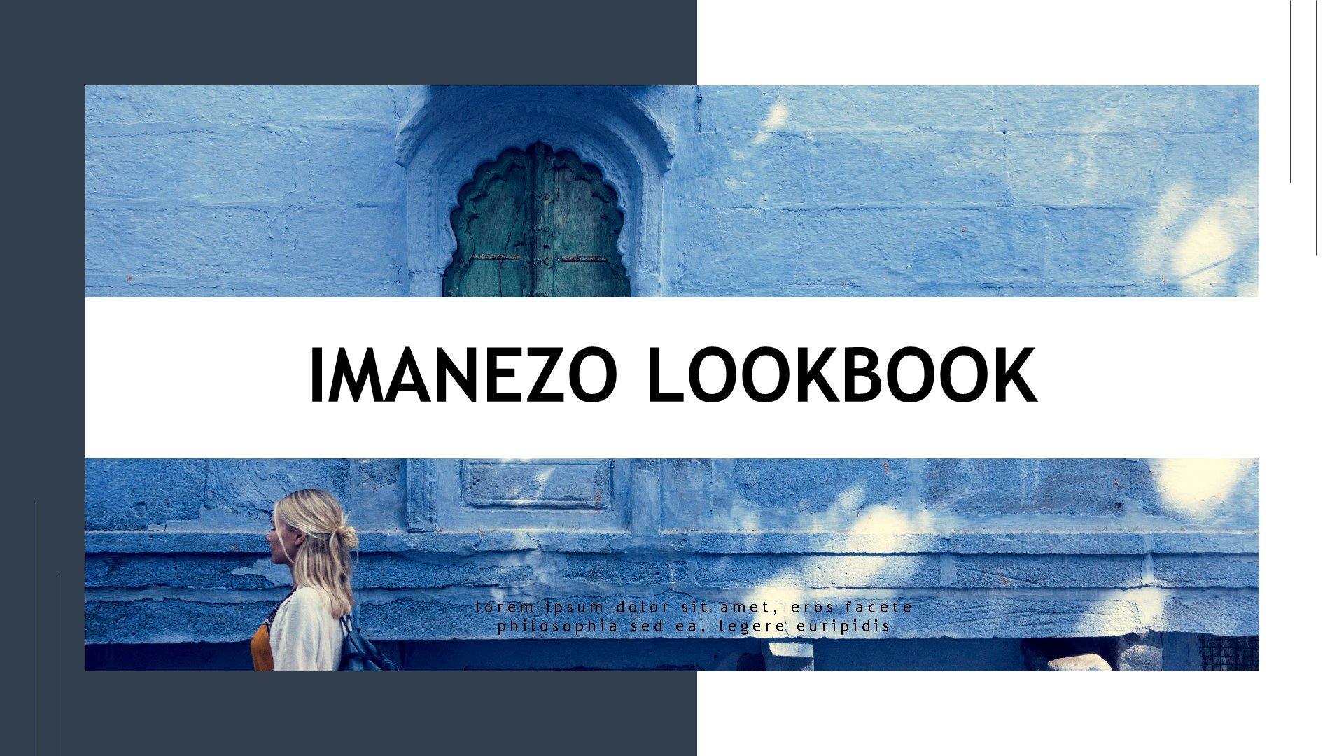 """""""Imanezo - Lookbook Presentaion"""" PowerPoint 模板 #83911"""