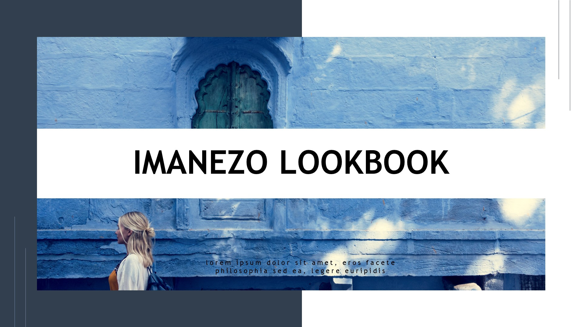 Imanezo - Lookbook Presentaion PowerPoint sablon 83911