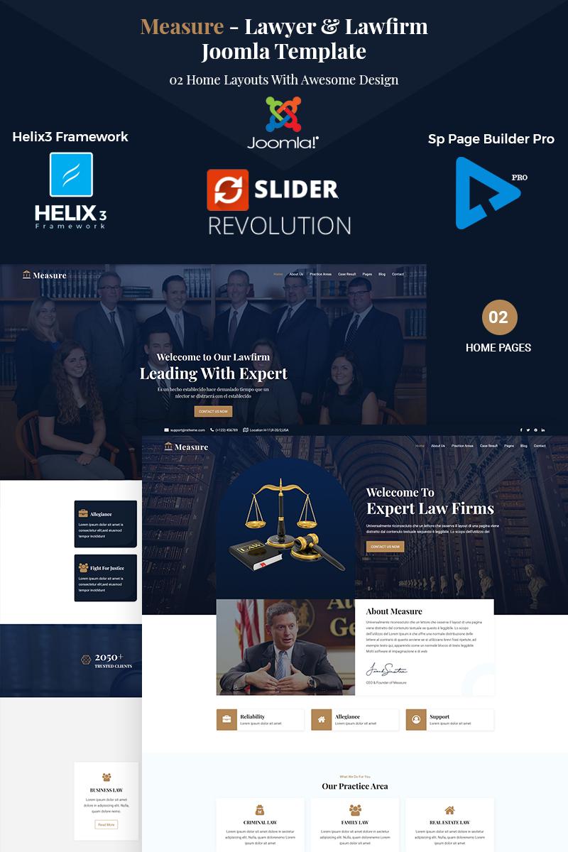 Measure - Lawfirm & Lawyer Joomla Template