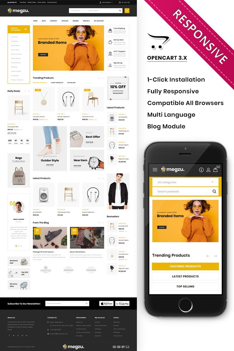 Megzu - The Mega Store Responsive Premium OpenCart Template