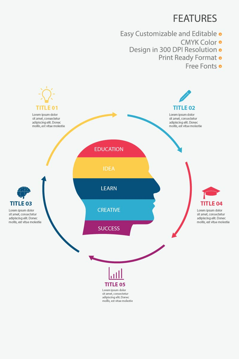 """Modello Elementi infografici #83993 """"Education"""""""