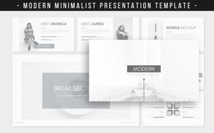 MODERN Minimalist Presentation PowerPoint template PowerPoint Template