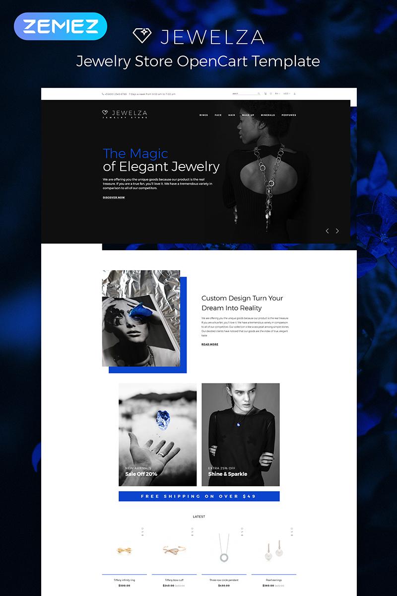 """OpenCart Vorlage namens """"Jewelza - Gems Multipurpose Stylish"""" #83969"""