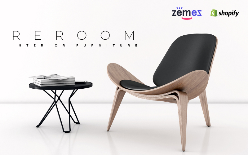 """""""Reroom - Furniture Store Multipage Clean"""" Responsive Shopify Thema №83972"""