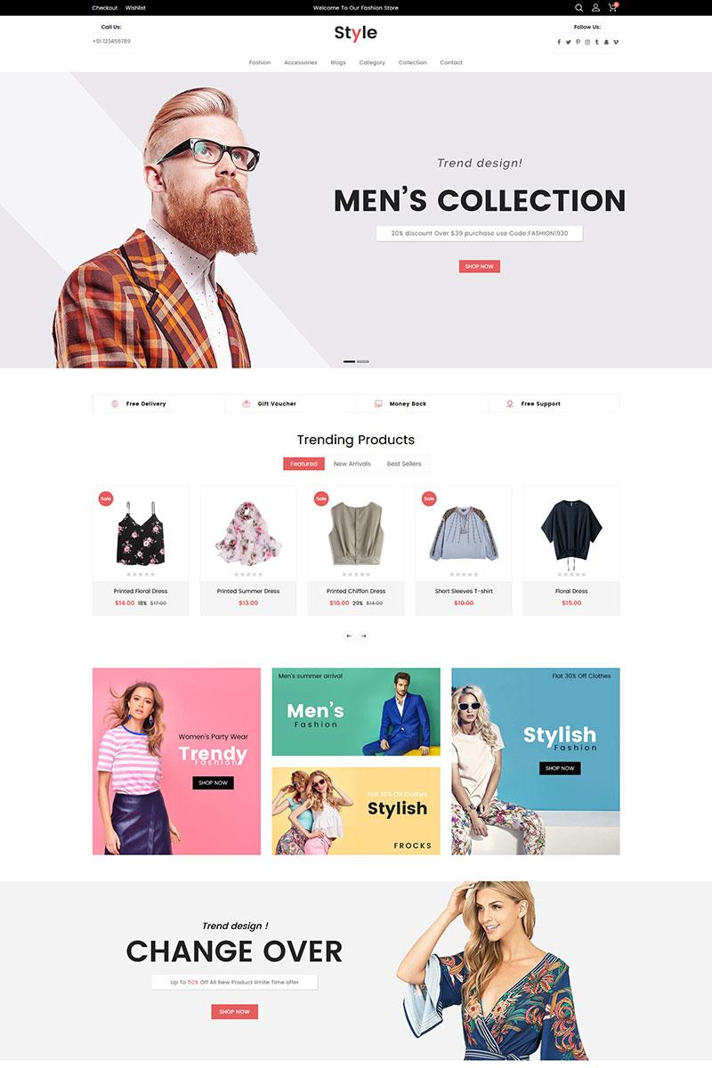 Responsywny szablon Shopify Style Fashion #83942