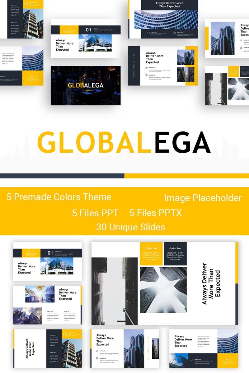 Szablon PowerPoint Globalega - Creative Building #83910