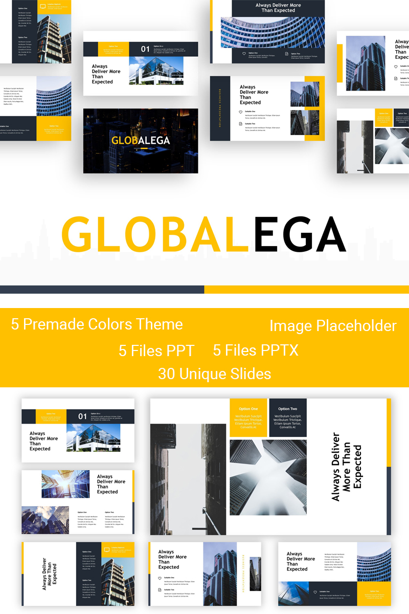 "Tema PowerPoint #83910 ""Globalega - Creative Building"" - screenshot"