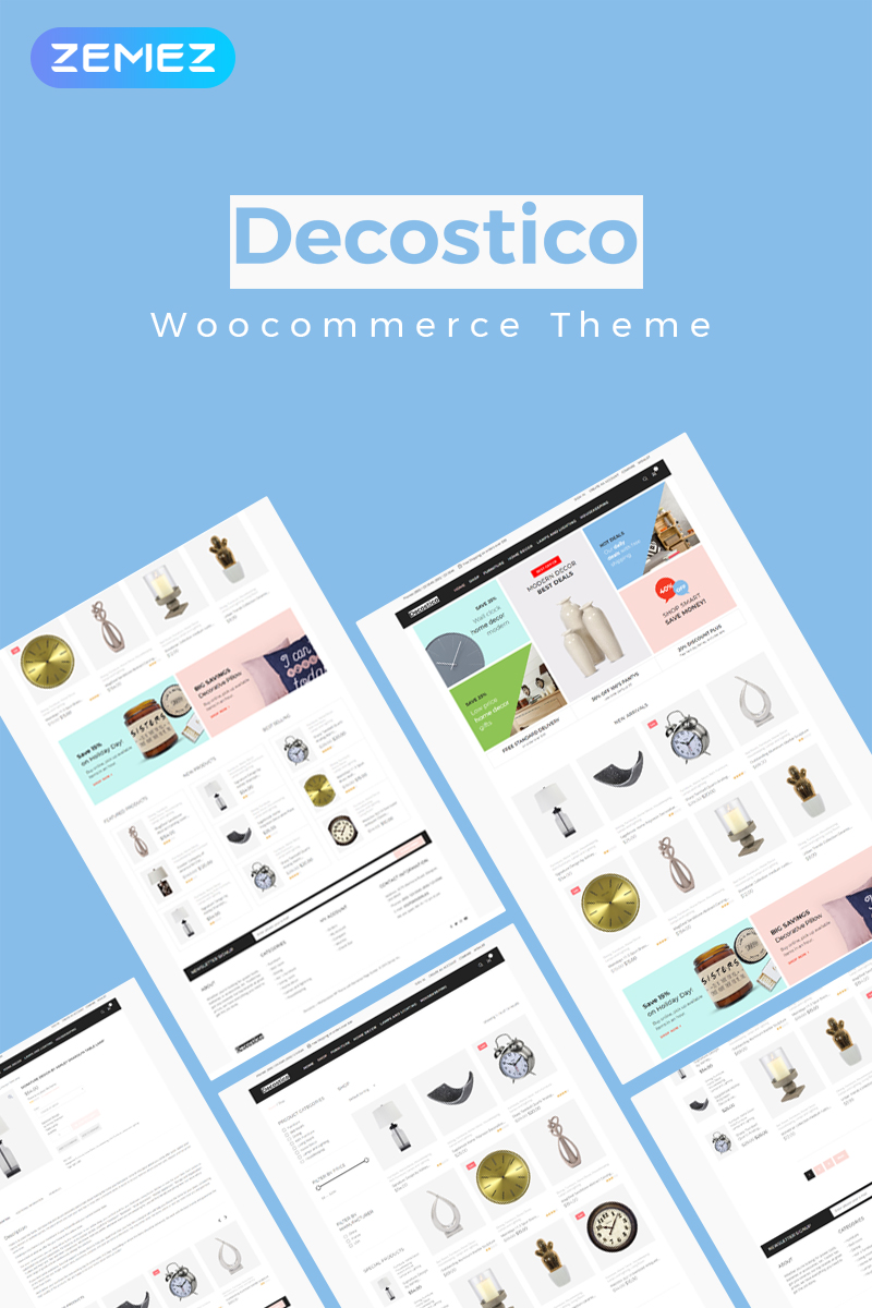"Tema WooCommerce #83958 ""Decostico - Modern interior furniture Elementor"""