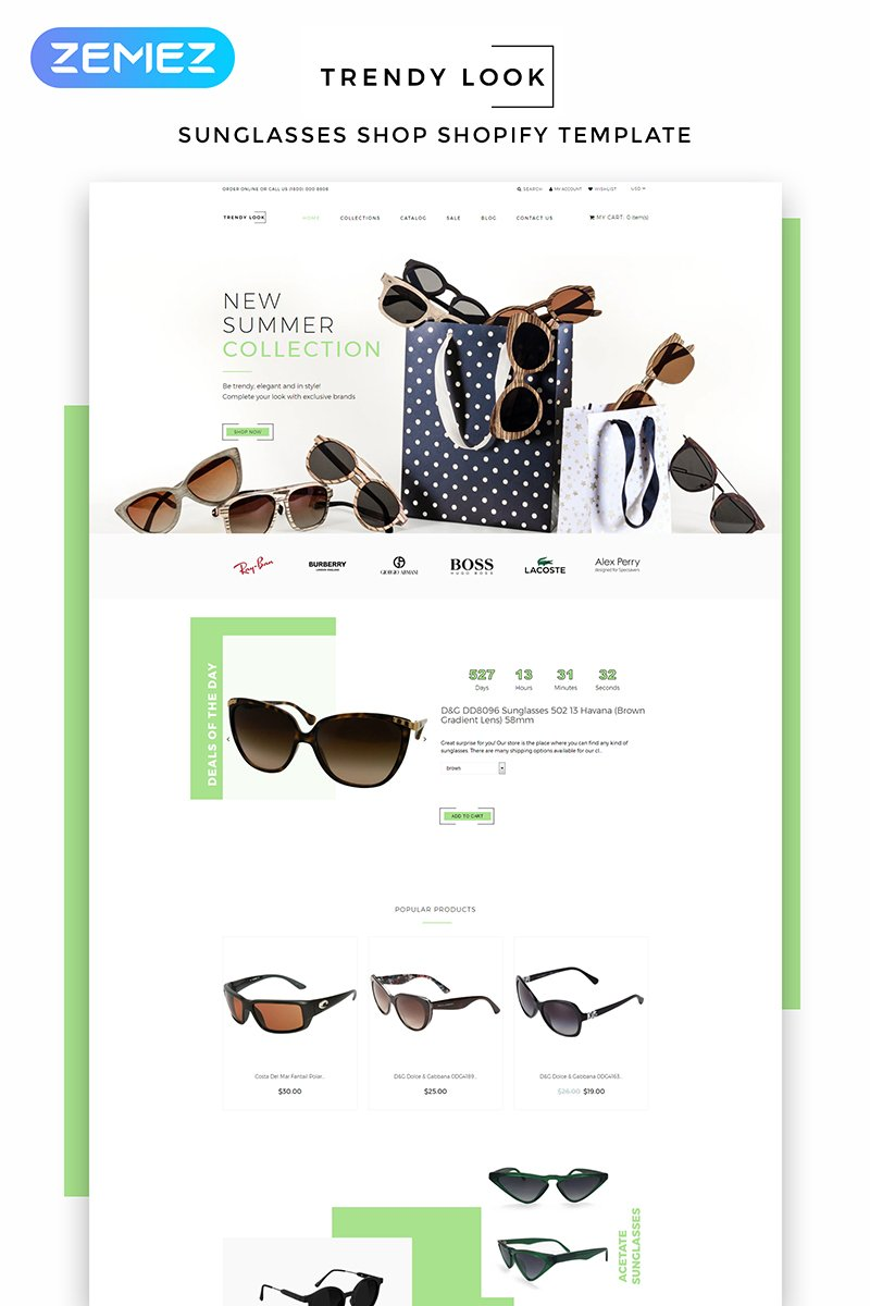 Trendy Look - Eye Glasses eCommerce Modern Shopify Theme