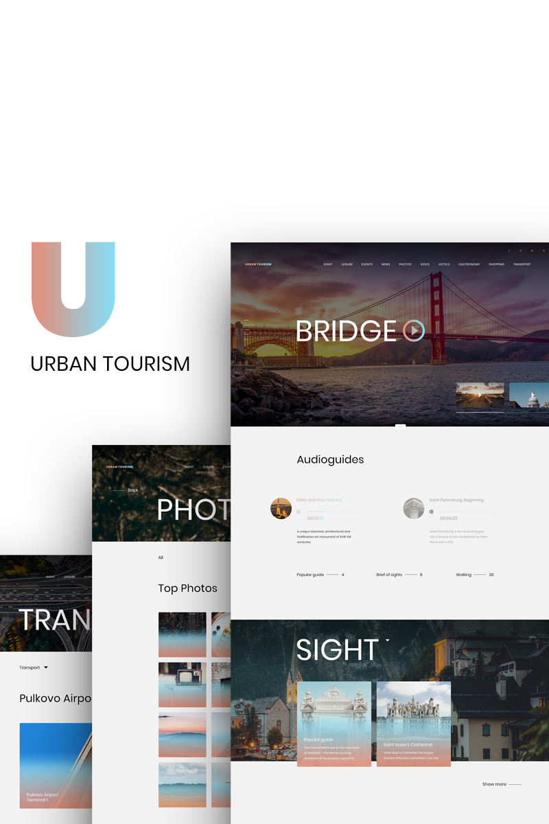 Urban Tourism PSD Template