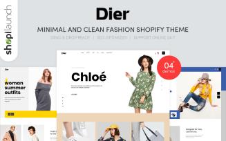 Dier - Minimal & Clean Fashion Shopify Theme