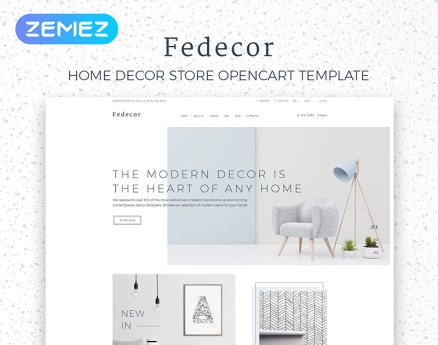 Fedecor - Interior Design Multipage Clean OpenCart Template