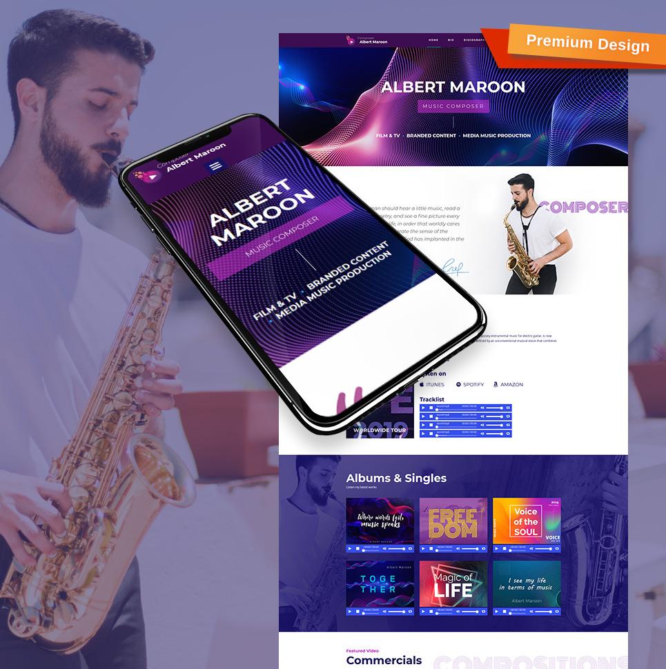 Plantilla para moto cms 3 - Categoría: Música - versión para Desktop