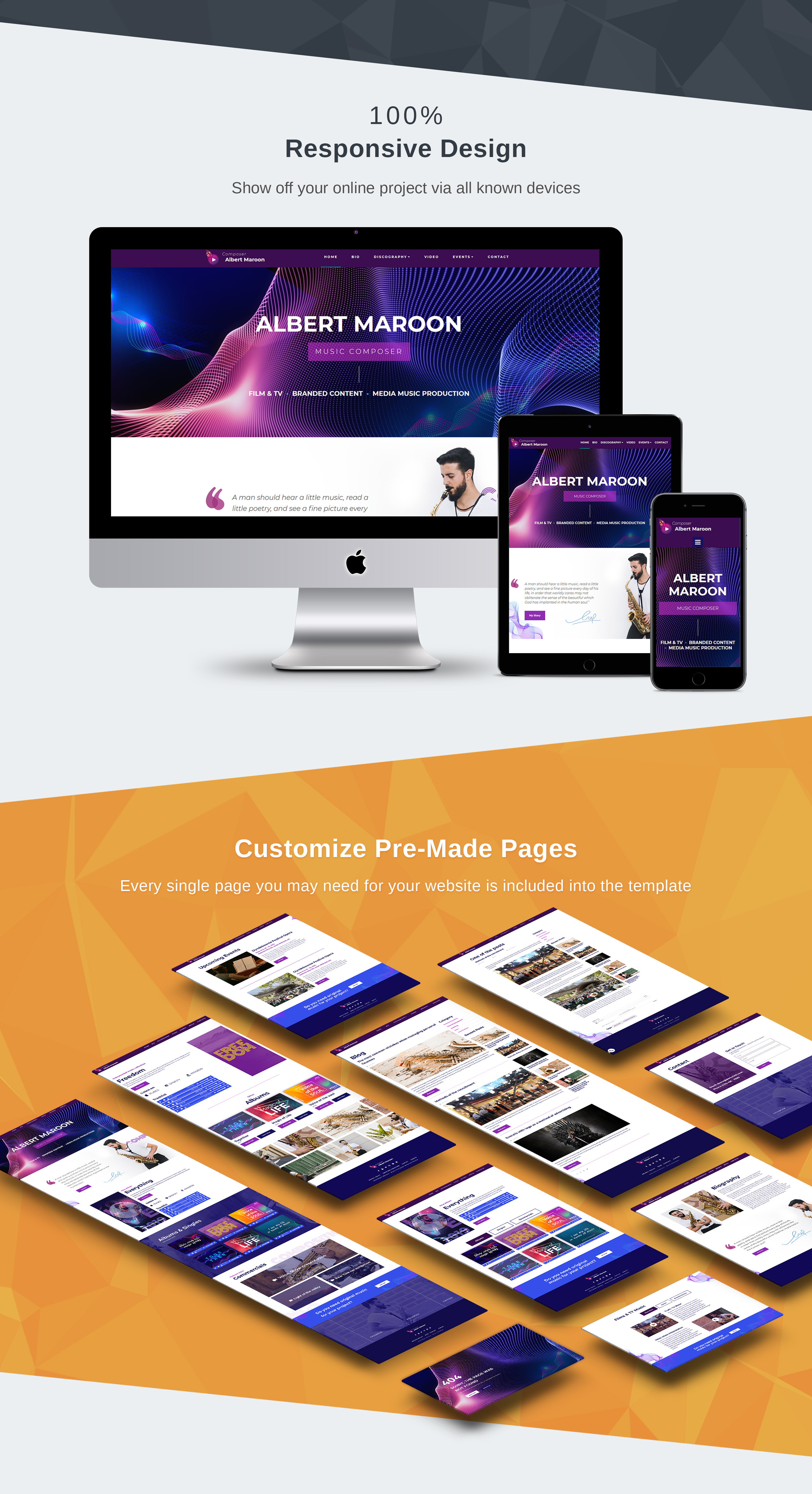 Albert Maroon - Music Composer Moto CMS 3 Template