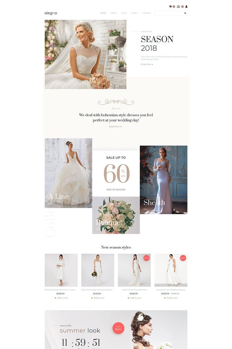 Alegria - Bridal Shop MotoCMS Ecommerce Template