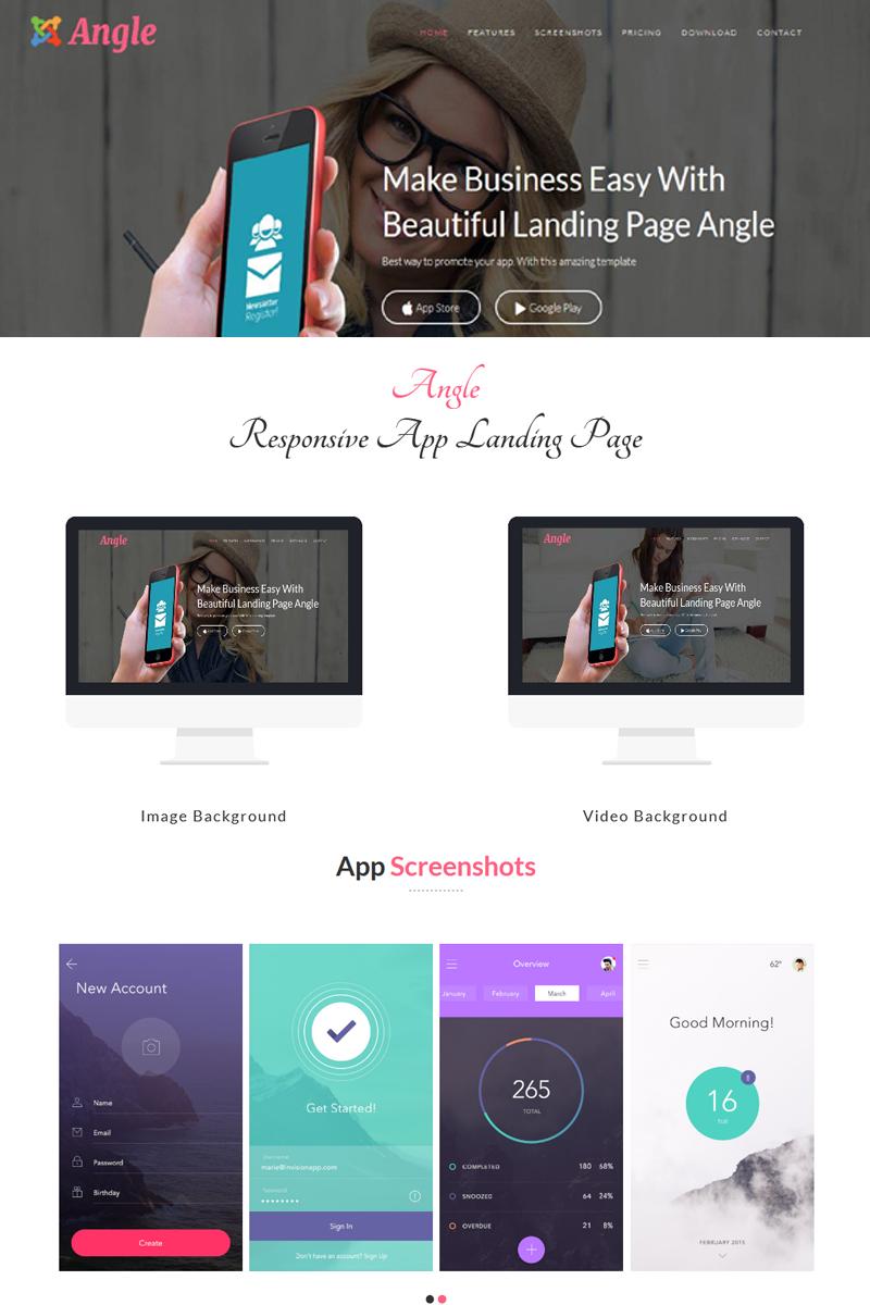 Angle - Responsive App Landing Joomla Template - screenshot