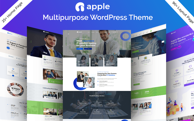 """Apple - Multipurpose"" - адаптивний WordPress шаблон №84004"