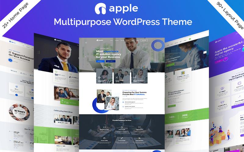 """Apple - Multipurpose"" 响应式WordPress模板 #84004"