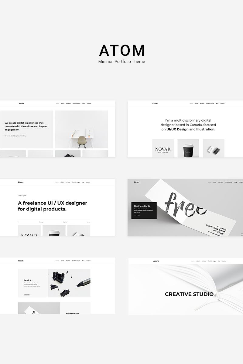 """Atom - Minimal Portfolio"" thème WordPress  #84025"