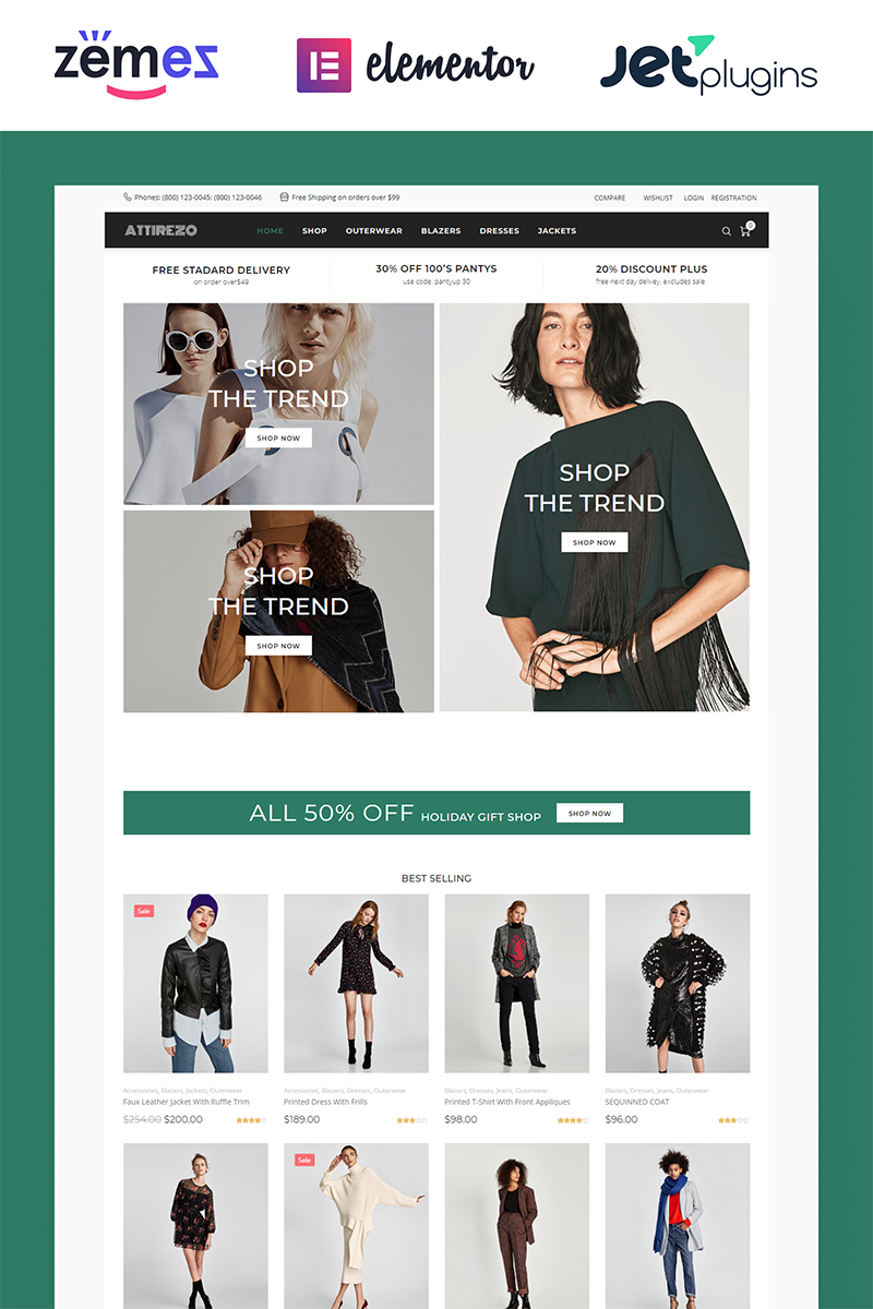 Attirezo - Clothes ECommerce Classic Elementor WooCommerce Theme - screenshot