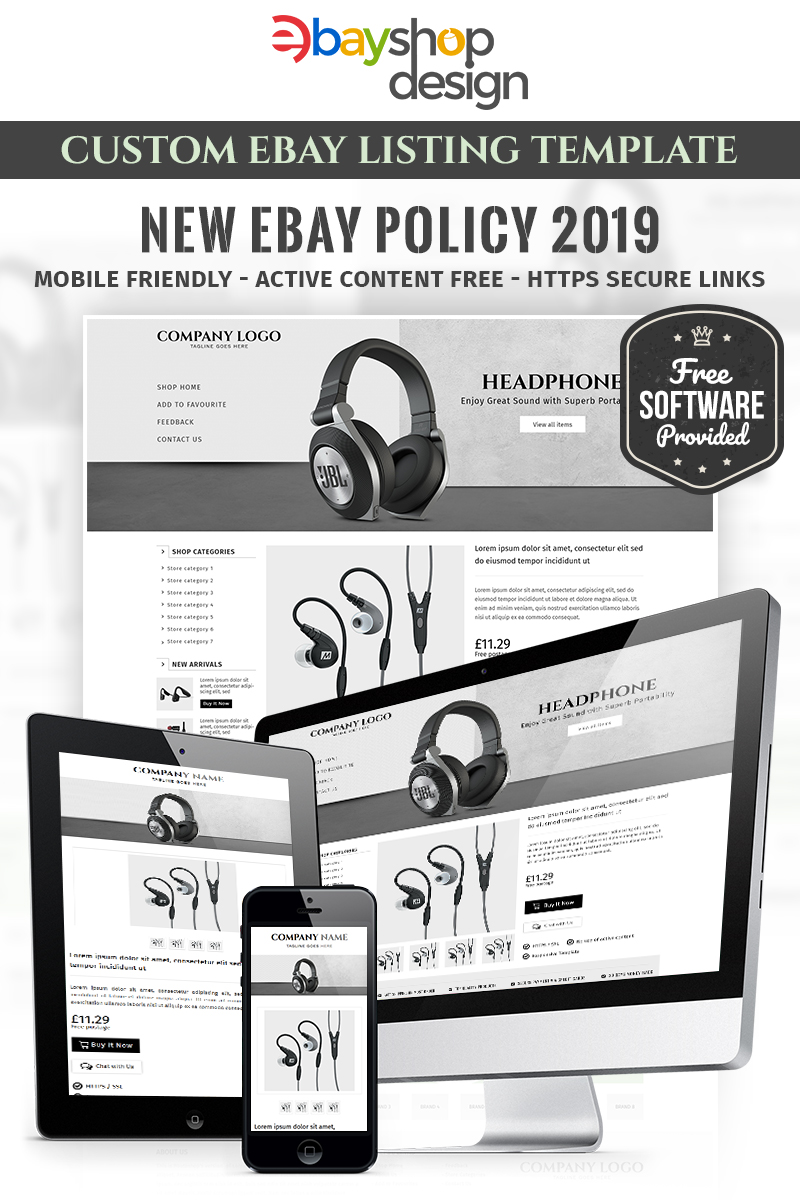"""Corrs Promotions V1"" Responsive eBay Template №84006 - screenshot"