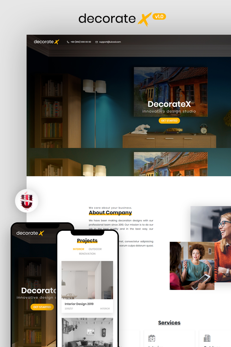 """DecorateX - HTML5 Furniture & Decoration"" modèle web adaptatif #84077"