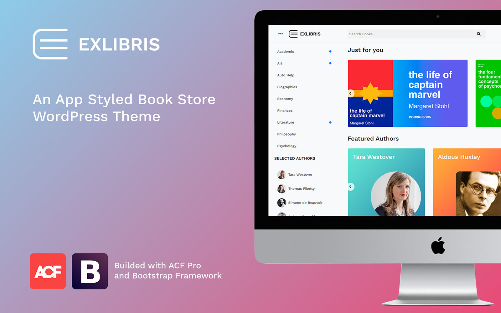 """""""EXLIBRIS - Book Store"""" thème WooCommerce adaptatif #84045"""