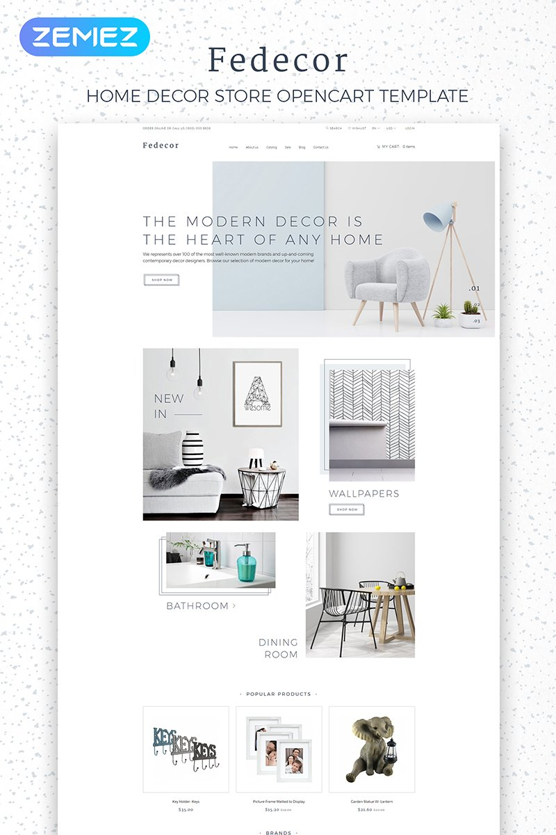 Fedecor - Interior Design Multipage Clean №84010 - скриншот