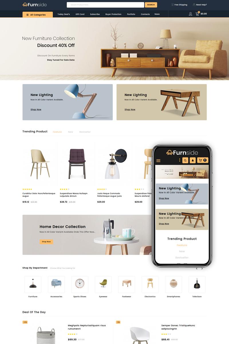 """Furnside - Furniture Store"" 响应式PrestaShop模板 #84005"
