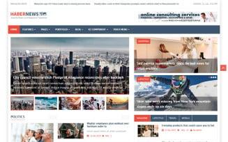 Habernews News and Magazine Joomla Template