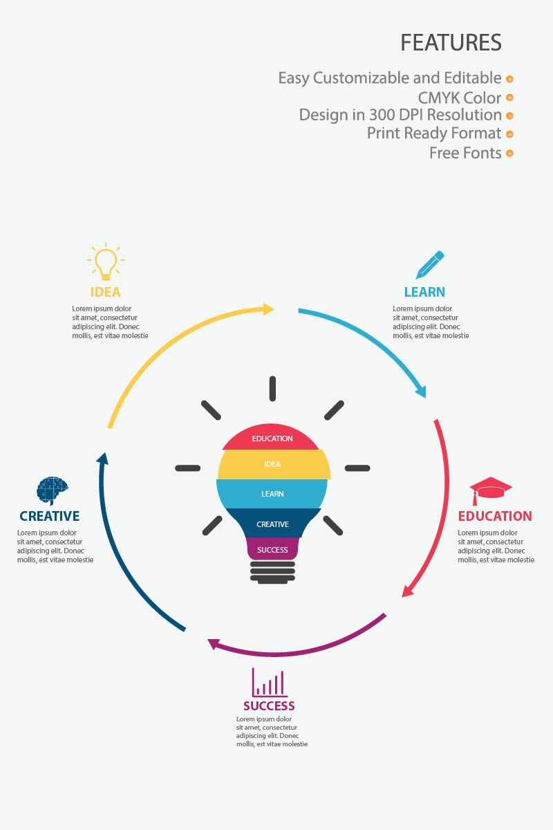 "Infografik-Elemente namens ""Creative Education"" #84001 - Screenshot"