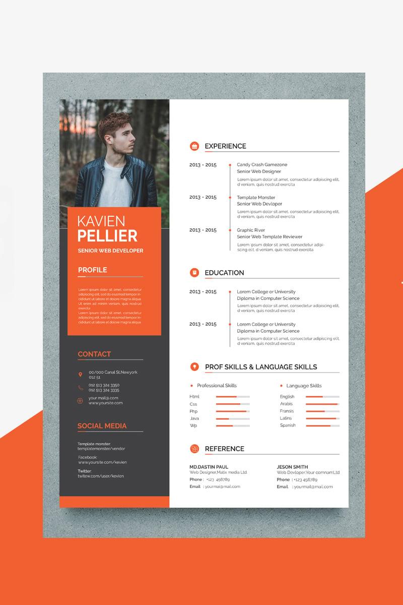Kavin Creative Resume Template