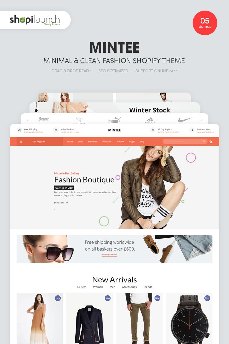 MINTEE - Minimal & Clean Fashion Shopify Theme