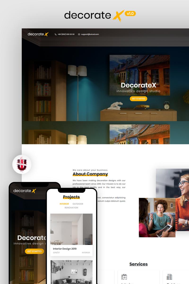 """Modello Siti Web Responsive #84077 """"DecorateX - HTML5 Furniture & Decoration"""""""