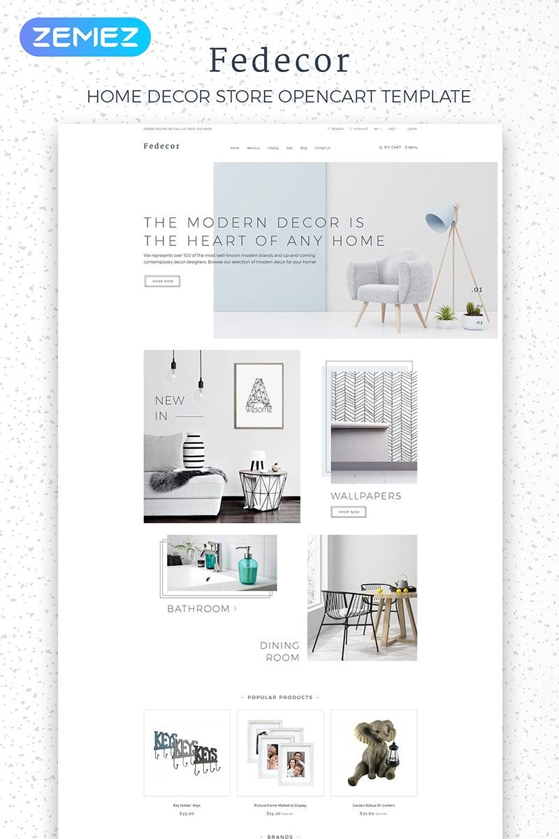"OpenCart Vorlage namens ""Fedecor - Interior Design Multipage Clean"" #84010"
