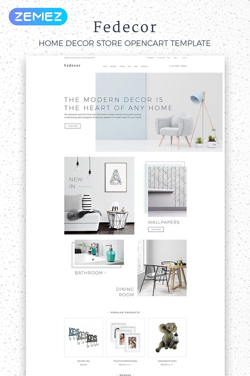 "Plantilla OpenCart ""Fedecor - Interior Design Multipage Clean"" #84010"