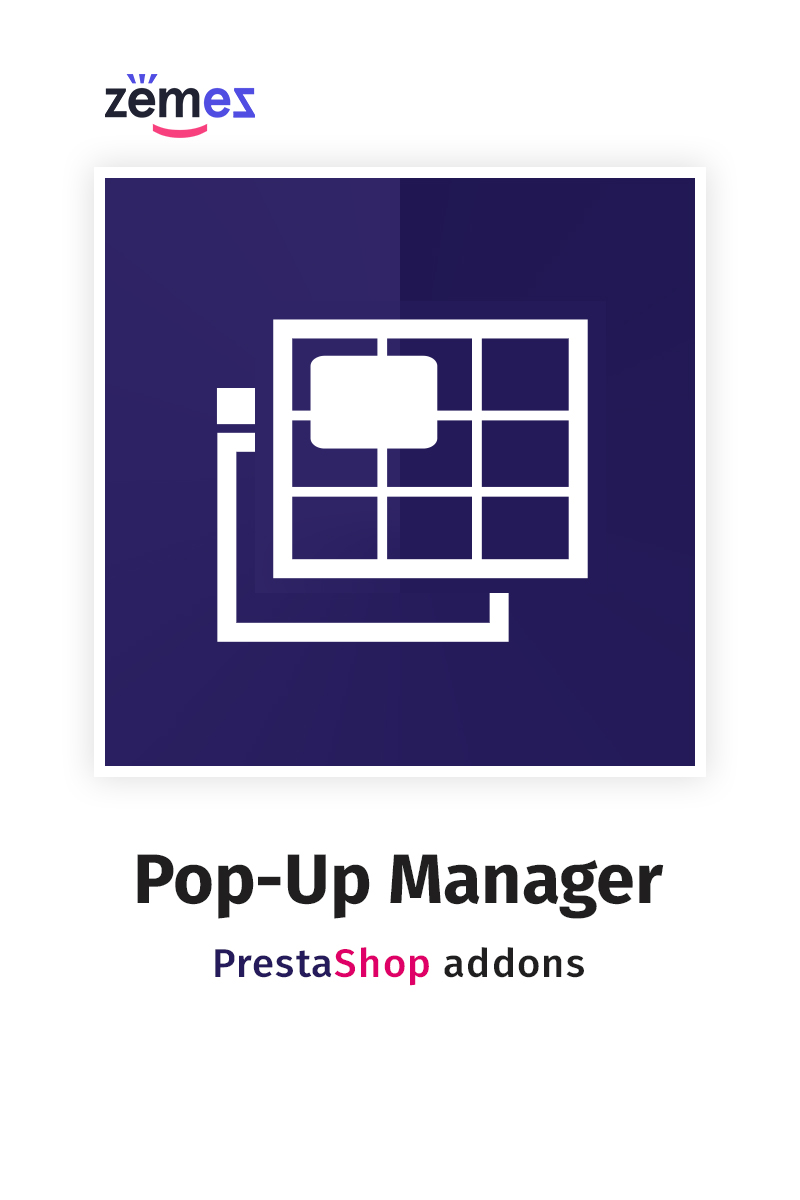 """Pop-Up Manager PrestaShop Module"" 响应式PrestaShop插件 #84024"