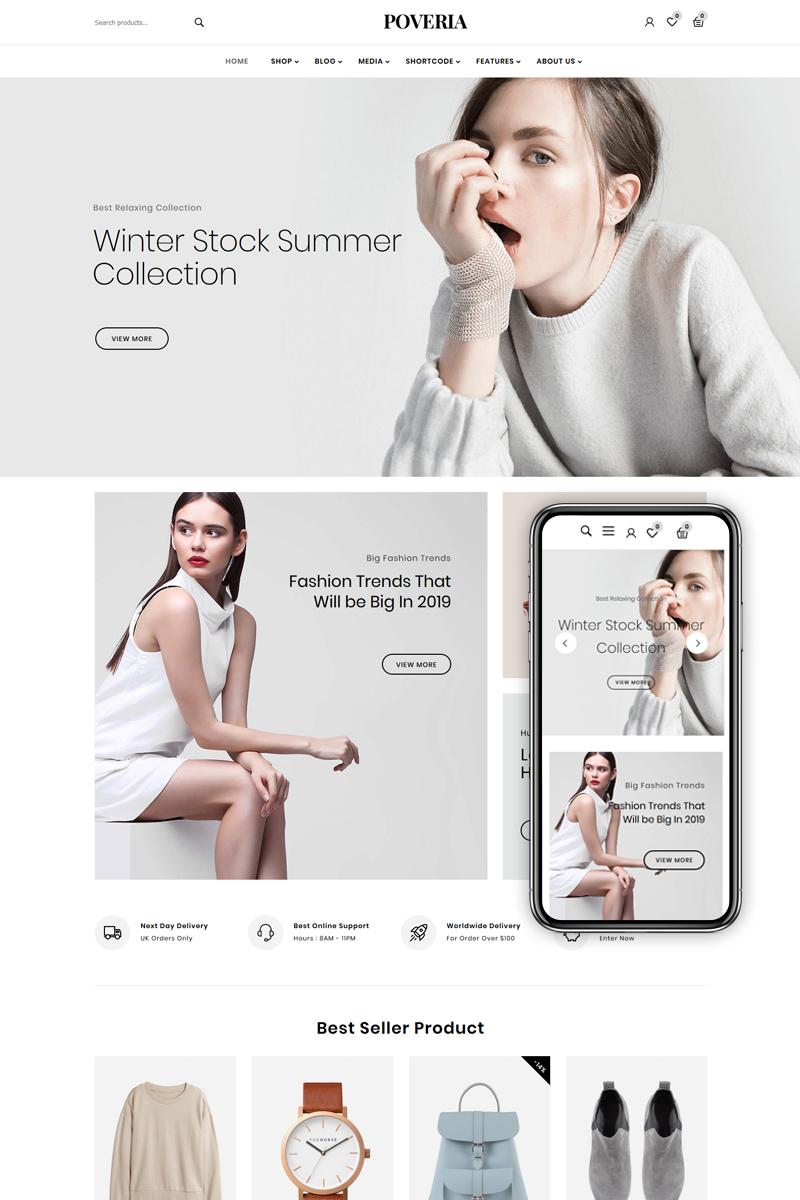 """Poveria - Fashion Store"" thème WooCommerce adaptatif #84095"