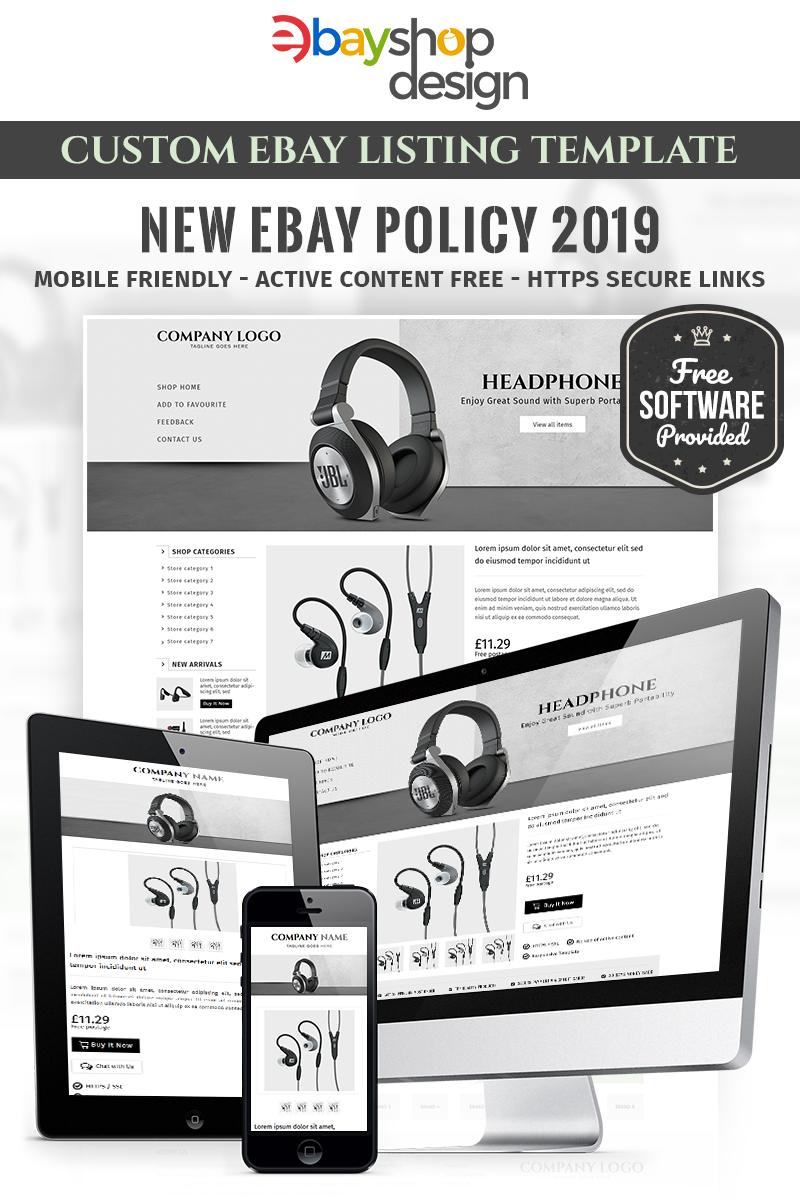 Responsivt Corrs Promotions V1 eBay Template #84006 - skärmbild