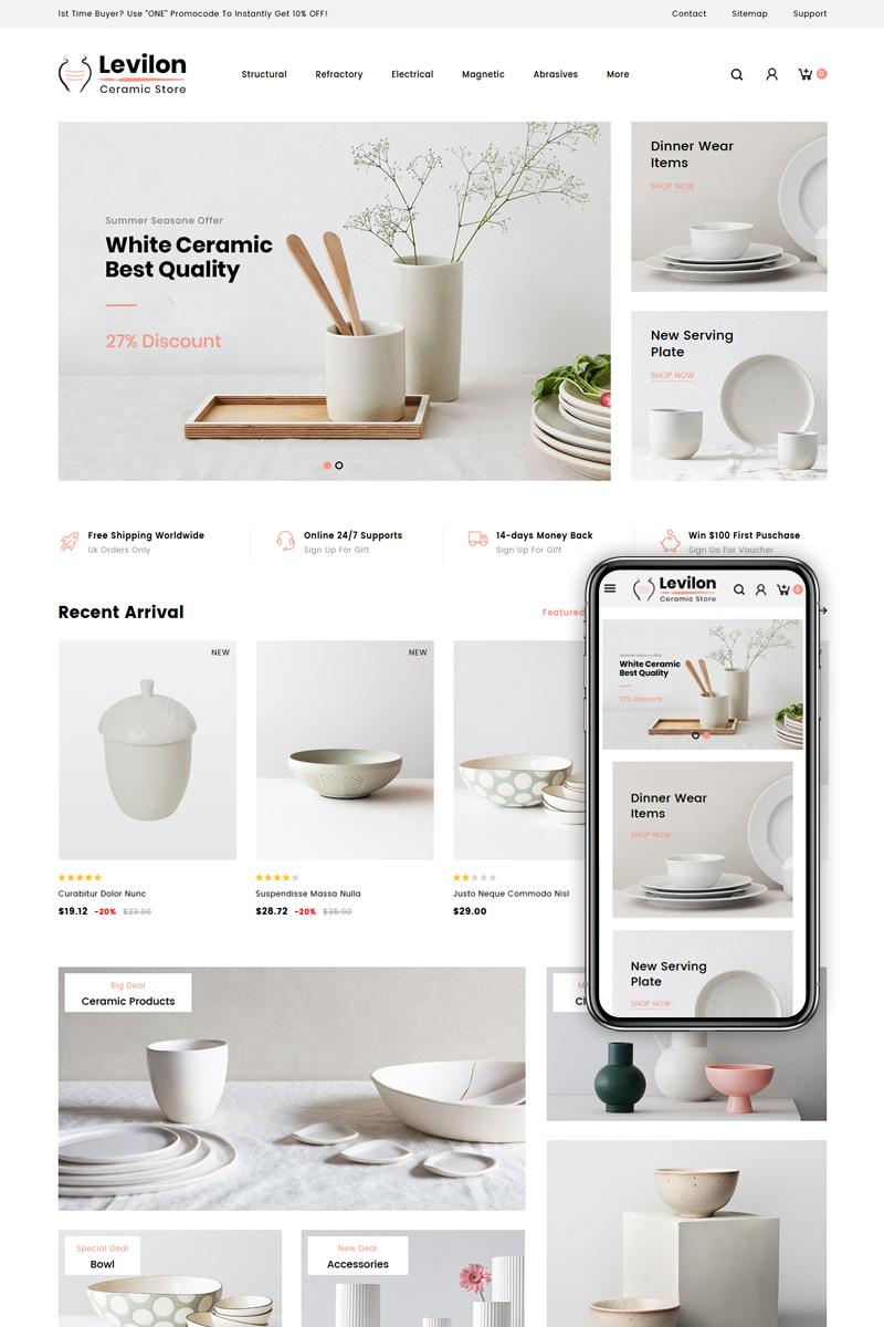 Responsivt Levilon - Ceramic Store PrestaShop-tema #84008