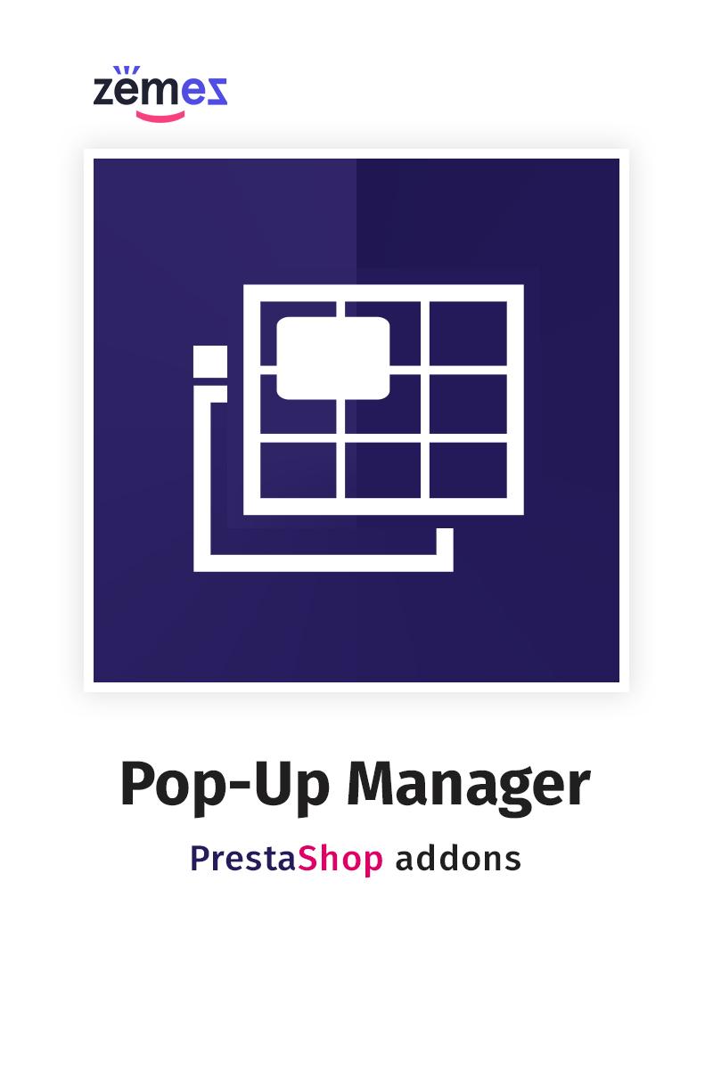 Responsivt Pop-Up Manager PrestaShop Module PrestaShop Modul #84024