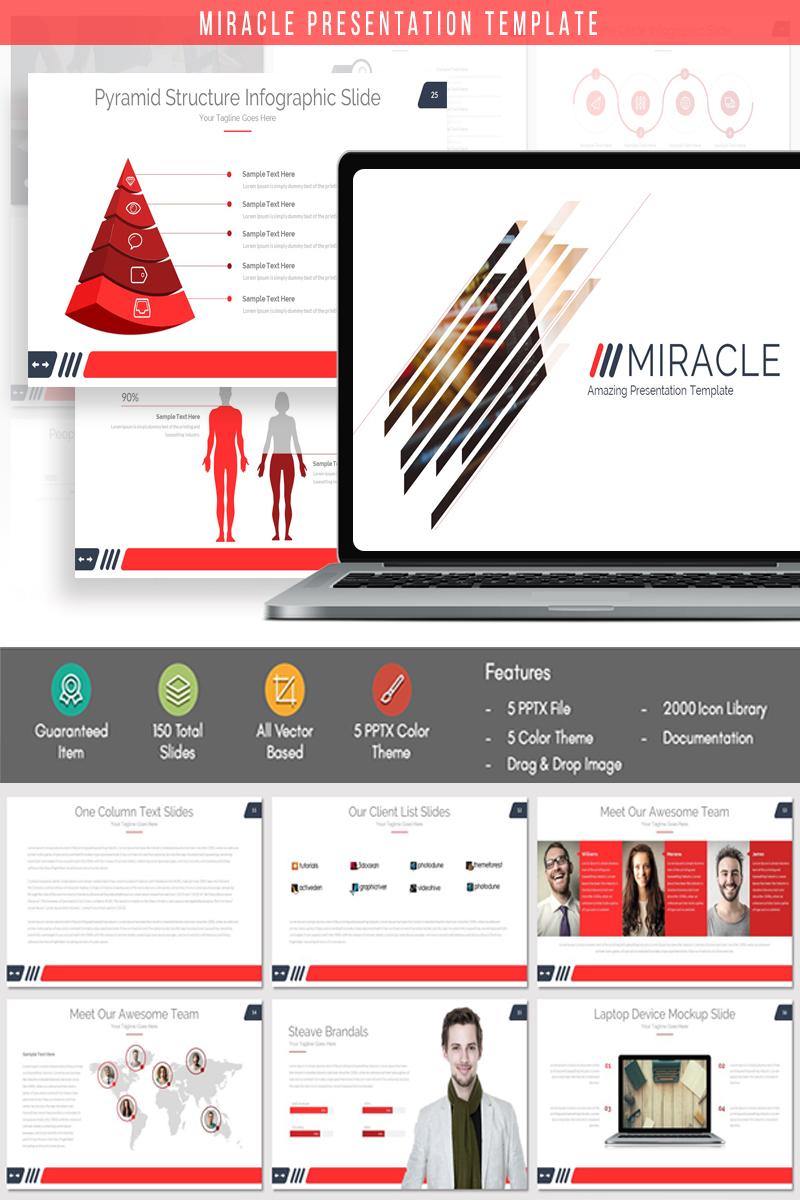 Reszponzív MIRACLE - Presentation PowerPoint sablon 84097