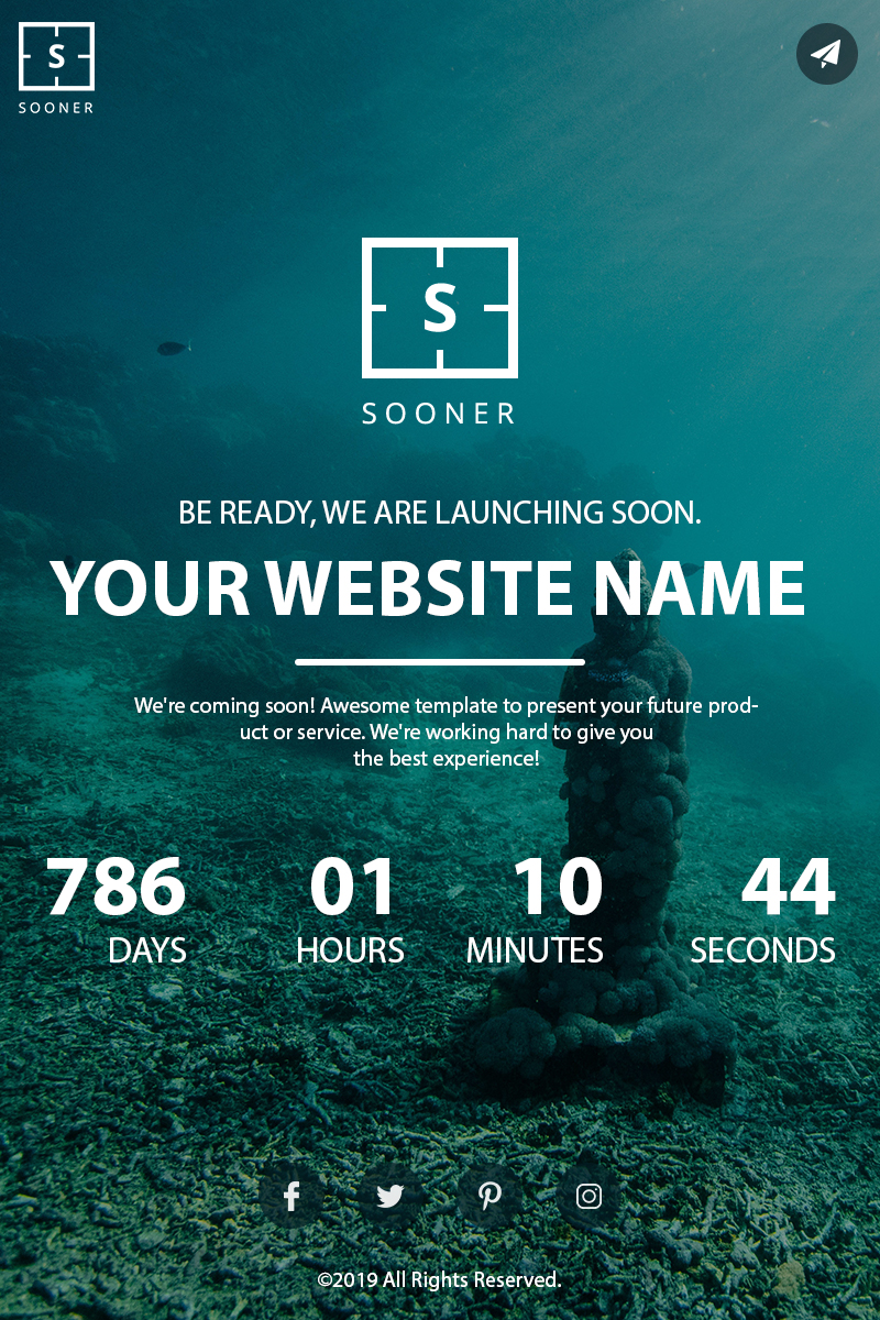 "Template Pagina web provvisoria #84043 ""Sooner"""