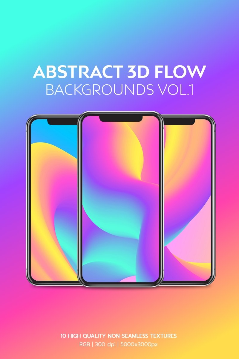 Abstract 3D Flow Backgrounds Vol.1 Background