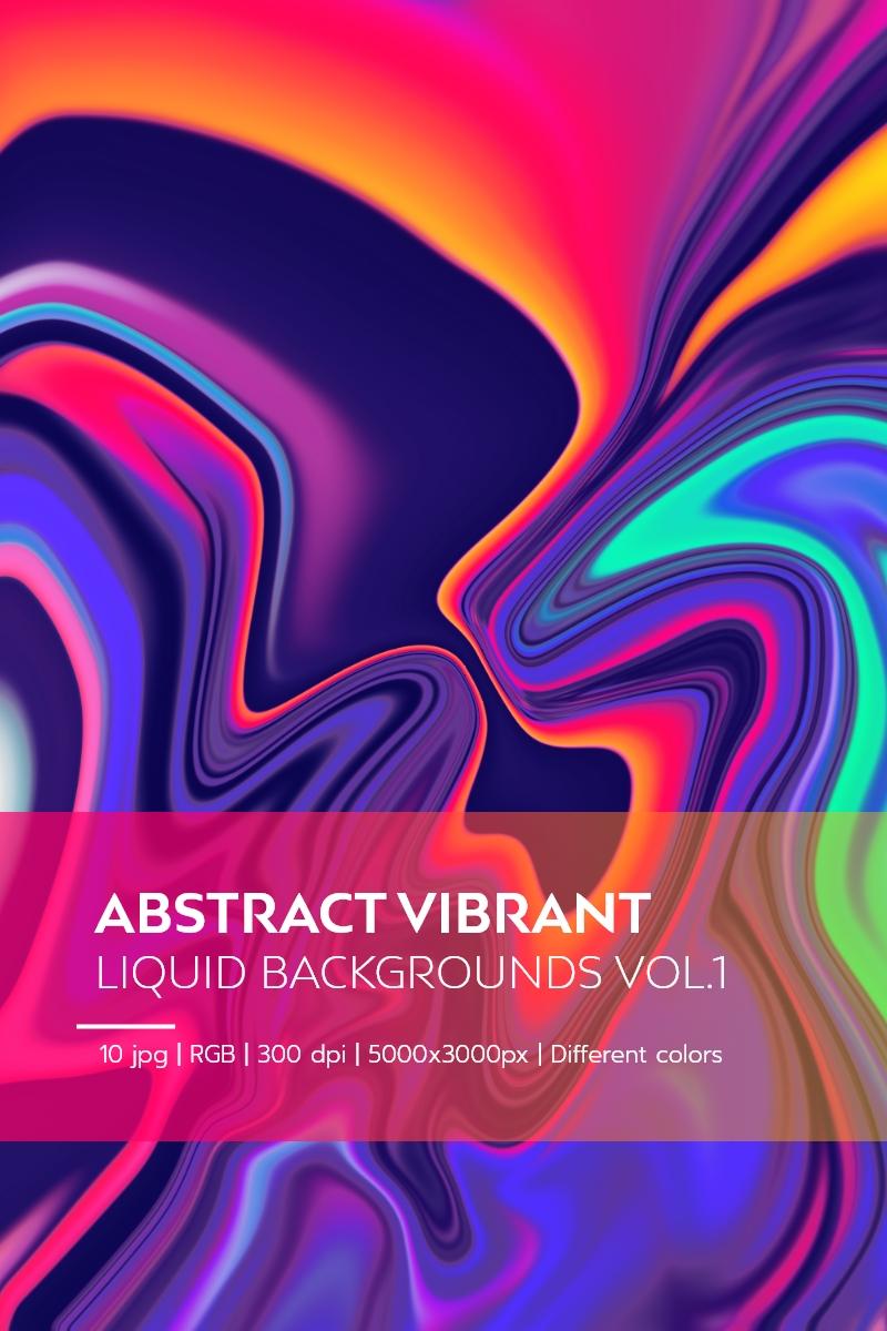 Abstract Vibrant Liquid Backgrounds Vol.1 Illustration