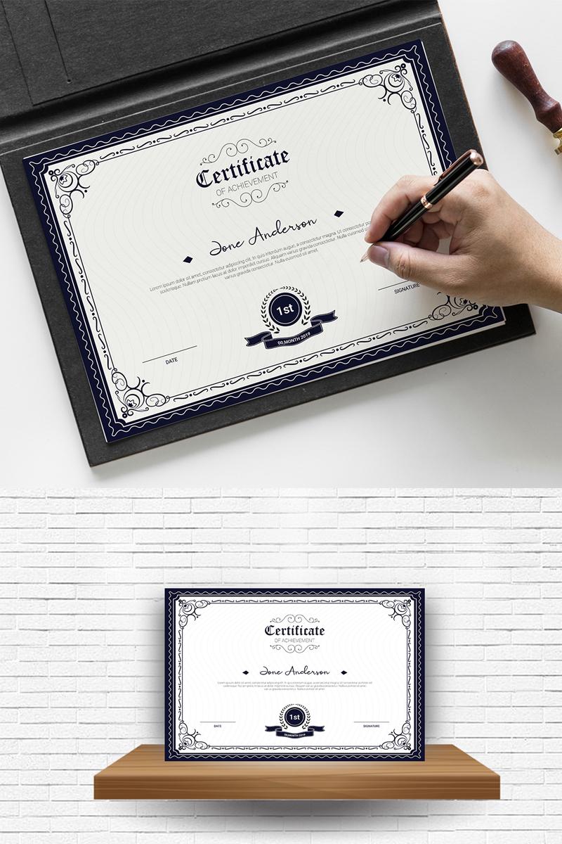 Anderson Achievement Certificate Template - screenshot